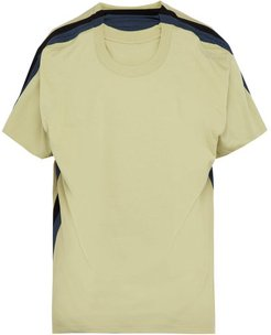 Four Layer Cotton T-shirt - Mens - Light Green
