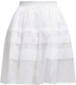 Mia Pleated Cotton-voile Skirt - Womens - White