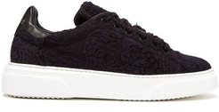 19th-century Panelled Low-top Trainers - Womens - Indigo