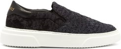 19th-century Panelled Low-top Trainers - Womens - Black Multi