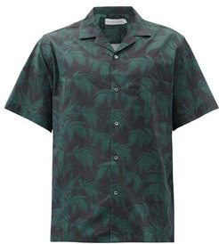 Byron Foliage-print Cotton Pyjama Top - Mens - Navy Print