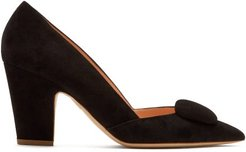 Mabel Point-toe Suede Pumps - Womens - Black