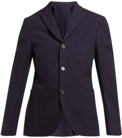 Ivy Single-breasted Cotton Blazer - Womens - Navy