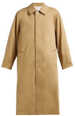 Peach Single-breasted Cotton-twill Trench Coat - Womens - Camel