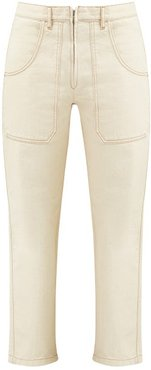 Andy High-rise Straight-leg Jeans - Womens - Ivory