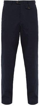 Theobald Ribbed Cotton Trousers - Mens - Navy