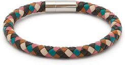 Woven Leather Bracelet - Mens - Multi