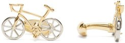 Bicycle Cufflinks - Mens - Silver