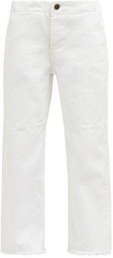 Panelled Wide-leg Jeans - Womens - White