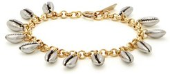 Amer Shell-charm Chain Bracelet - Womens - Silver