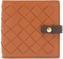 Intrecciato Leather Wallet - Womens - Tan Multi