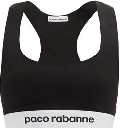 Logo-jacquard Sports Bra - Womens - Black