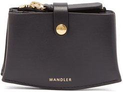 Leather Cardholder - Womens - Black