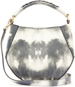 Corsa Mini Tie-dye Leather Tote Bag - Womens - Grey White