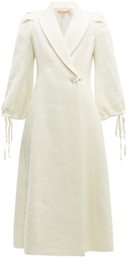 Padova Single-breasted Textured Wool-blend Coat - Womens - Cream