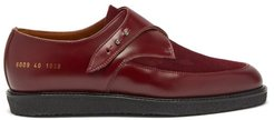 Leather And Suede Creeper Loafers - Womens - Dark Red