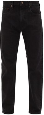 Tm005 Cotton-blend Tapered-leg Jeans - Mens - Black