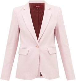 Mason Single-breasted Lurex Jacket - Womens - Light Pink