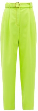 Blanche Tailored Wide-leg Trousers - Womens - Light Yellow