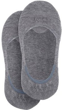 Step Invisible Liner Cotton-blend Socks - Womens - Grey