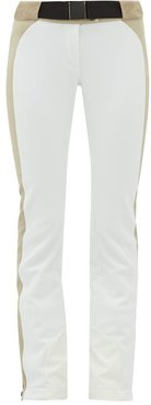 Gaia Soft-shell Ski Trousers - Womens - White Multi
