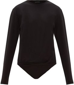 Long-sleeve Cotton-jersey Bodysuit - Womens - Black