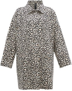 Leopard-print Single-breasted Coat - Womens - Leopard