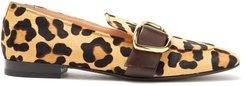 Charmer Leopard-print Calf-hair Loafers - Womens - Leopard