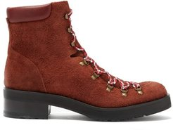 Roanoke Suede Lace-up Boots - Womens - Brown