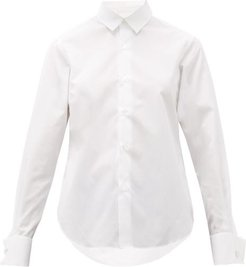 French-cuff Cotton Shirt - Womens - White