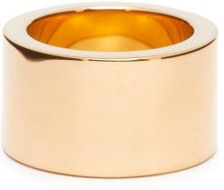 Wide Gold-plated Ring - Womens - Gold