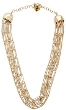 Muse Chainmail Necklace - Womens - Gold