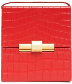 Daisey Crocodile-effect Leather Cross-body Bag - Womens - Red