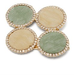 Origine Crystal-embellished Twill Disc Hairclip - Womens - Multi