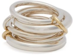 Vela 18kt Gold & Sterling Silver Ring - Womens - Silver