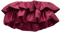 Calypso Ruffled Off-the-shoulder Cropped Top - Womens - Dark Pink