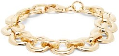 Circle-drop Gold-plated Chain Bracelet - Womens - Gold