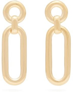 Small Closed Curve Gold-plated Drop Earrings - Womens - Gold