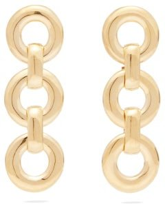 Small Circle Gold-plated Drop Earrings - Womens - Gold