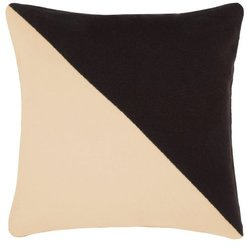 Buttoned Two-tone Cashmere Cushion - Brown Multi