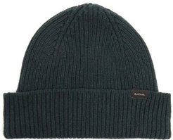 Ribbed Cashmere-blend Beanie Hat - Mens - Green