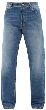 Flared Denim Jeans - Mens - Light Blue