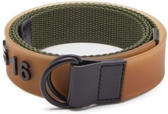 Logo-embossed Rubber And Canvas Belt - Mens - Green Multi