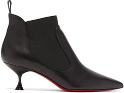 Carnavague Kitten-heel Leather Ankle Boots - Womens - Black