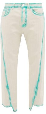 Twisted-seam Straight-leg Cotton Jeans - Mens - Light Green