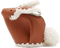Bunny Coin-purse Leather Key Ring - Womens - Tan