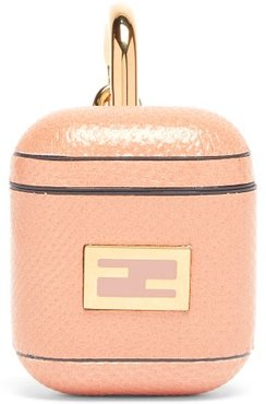 Ff-logo Snakeskin Airpods Case - Womens - Pink