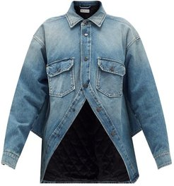 Swing Denim Jacket - Womens - Blue