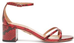 Purist 50 Python-effect Leather Sandals - Womens - Black Red