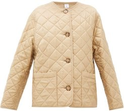 Bardsey Quilted Logo-jacquard Twill Jacket - Womens - Beige